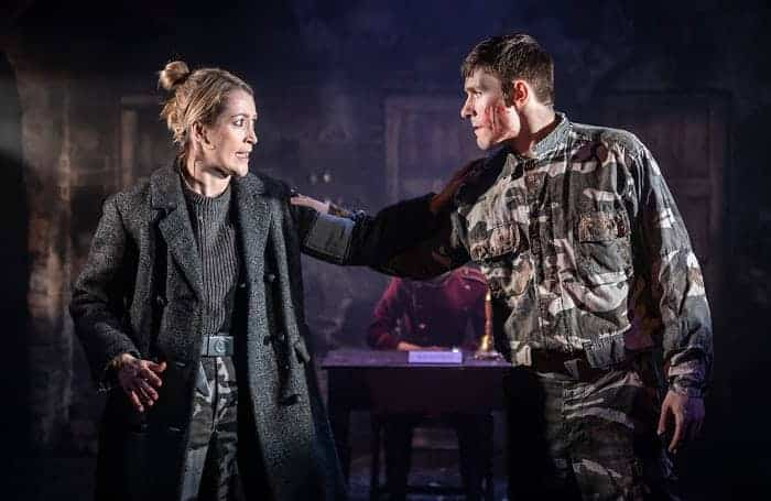 Macbeth The Watermill Theatre. Victoria Blunt and Peter Mooney